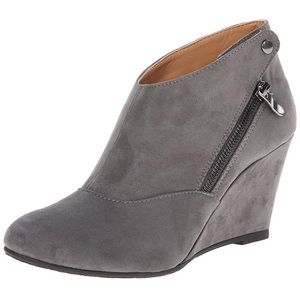 CL by Chinese Laundry Gray Valerie Wedge Booties